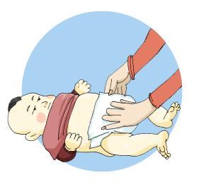 changer la couche de bébé